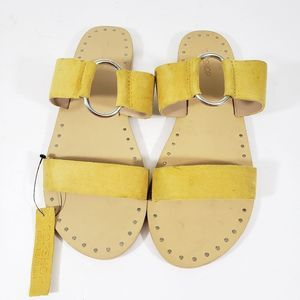 TopShop Women's Leather Yellow Sandals Size 38